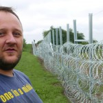 Hungarian border fence separates neighbours in Sombor